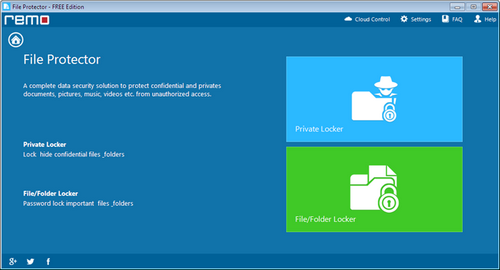 Password Lock Word Files - File Protector Screen
