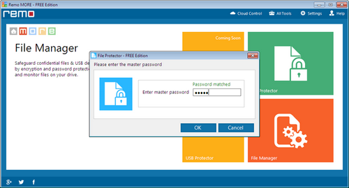 Password Lock Word Files - File Manager Screen