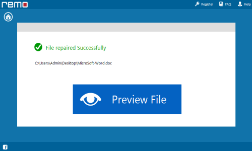 Word File Error- Preview repaired file